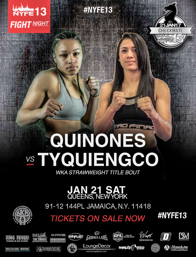 NYFE13_TITLE_ Quinones vs Tyquiengco NYFE STRAWWEIGHT TITLE FIGHT_wkaNational115title